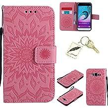 Silicona sof tshell PU Funda para Samsung Galaxy J3(2016)/J310(5pulgadas) funda case cover Funda Strass–PRS Bumper Carcasa Silicone Case & # xff08; + Exquisite Key Chain X1) # KC