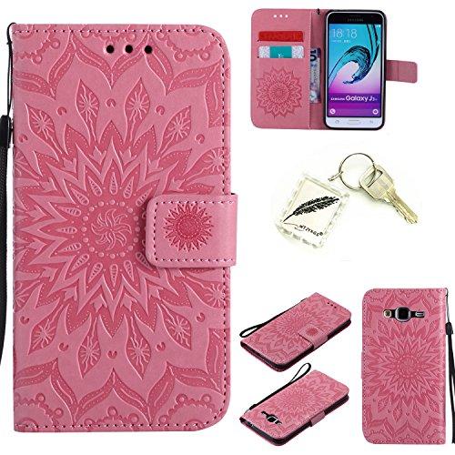 Preisvergleich Produktbild Silikonsoftshell PU Hülle für Samsung Galaxy J3 (2016) /J310 (5,0 Zoll) Tasche Schutz Hülle Case Cover Etui Strass Schutz schutzhülle Bumper Schale Silicone case+Exquisite key chain X1) #KC (3)