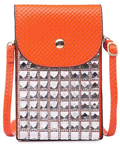 Big Handbag Shop - Borsa a tracolla bambina (arancione)