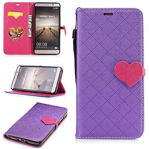 Qiaogle Telefon Case - PU Leder Wallet Schutzhülle Case für Apple iPhone 6 Plus / iPhone 6S Plus (5.5 Zoll) - BF88 / Weiß BF89 / Lila