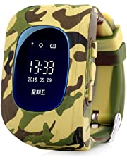 ELEPAIO TM Kids Baby Tracker LED Display (Version-2018) Kid Smart Wrist Band Child Safety, SOS Calls, Anti-Lost for Tracking (CAMO-Yellow)