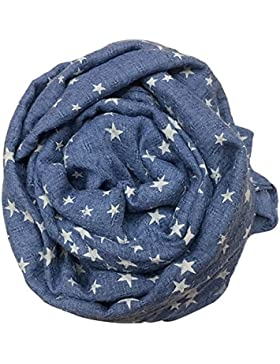 Boys Girls Stars stampa colletto Baby cotone sciarpe Wraps