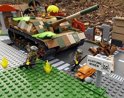 Modbrix 2483 - ☠ Bausteine Panzer Jagdpanzer IV Totenkopf Division inkl. Custom Elite Wehrmacht Soldaten aus Lego Teilen ☠ thumbnail