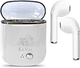 Cuffie Bluetooth, Cuffie Bluetooth Palestra,Cuffie Bluetooth Wireless Senza Fili,Mini Cuffie Bluetooth, iPad, Smartphone, Wireless V4.2 + EDR, Adatto per sistemi Android e IOS(Trasparente Bianco) (1)