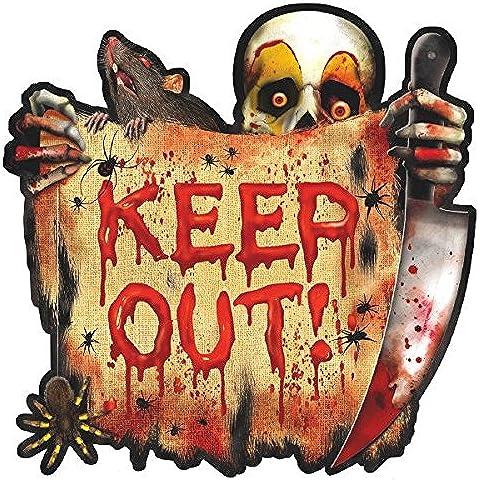Decoración calavera cuchillo Halloween - Única