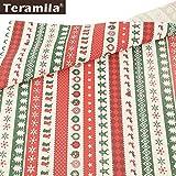 Shoppy Star Teramila 100% Baumwolle Stoff Weihnachtsmotive