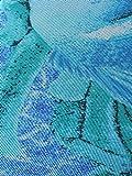 Solar Tan Thru V-Ausschnitt Badeanzug Fisch in Blau, Gr. 38 B-Cup - 4