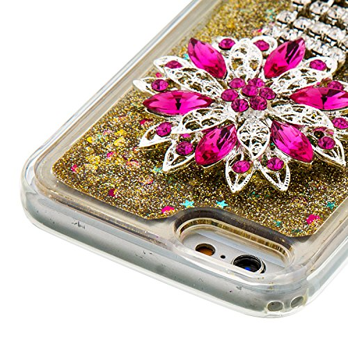 """Flüssiges Case Ultra Thin Dünn TPU Silikon Schutzhülle für iPhone 6/6s 4.7"""" 3D Kreative Liquid Handyhülle Durchsichtig Rückseite Tasche Glitter Shiny Kristall Klar Handytasche Sparkle Dynamisch Treibs B09"""