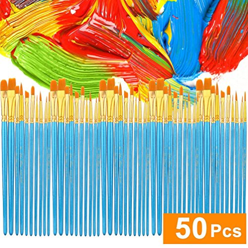 gaddrt Acryl Pinsel Set 5 Packungen / 50 -