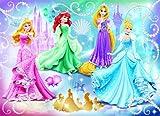 Nathan 86720 - Puzzle Enfant Classique - Disney Princess - Princesses Étincelantes - 100 Pièces
