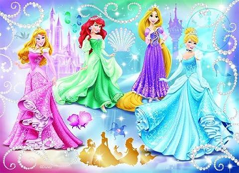 Nathan - 86720 - Puzzle Enfant Classique - Disney Princess - Princesses Étincelantes - 100 Pièces