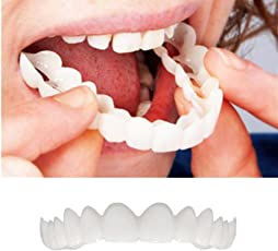 Indeals Temporary Smile Comfort Fit Cosmetic Teeth Denture Teeth Top Cosmetic Sticker (Top)