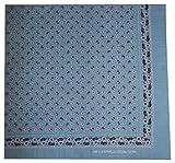 Tobeni 548 Bandana Nickituch in 100 Baumwolle für Damen und Herren, Farbe:Heide Hellblau;Größe:54 cm x 54 cm