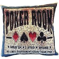 Textiles el Cid Poker Funda de Cojín Algodón-Poliéster-Acrílico, ...