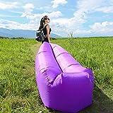 Providethebest Aufblasbare Lounger Air Sofa Hammock Bett Couch Hinterhof Lakeside Beach Camping Bett schlafen Bag Lila