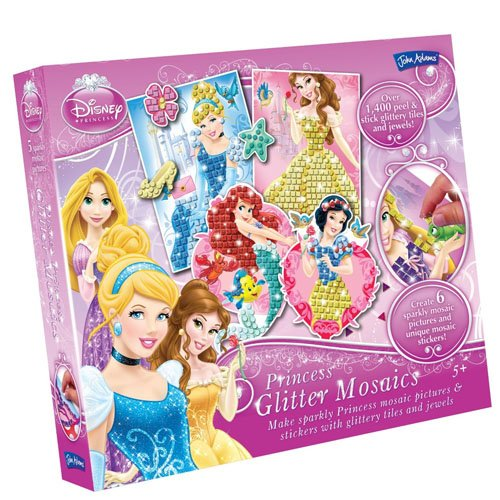 Disney Toy - Princess Glitter Mosaics Picture and Sticker Playset - Cinderella Snow White Rapunzel