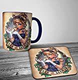 Search : Disney Cinderella Punk Tattoo Mug And Coaster Set