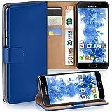 Pochette OneFlow pour Samsung Galaxy A3 (2016) housse Cover avec fentes pour cartes | Flip Case étui housse téléphone portable à rabat | Pochette téléphone portable étui de protection accessoires téléphone portable protection bumper en ROYAL-BLUE