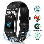 NAIXUES Pulsera Actividad Inteligente GPS, Pulsera Deportiva IP68 para Natación, 7 Modos Deportes, Monitor Cardiaco Reloj...