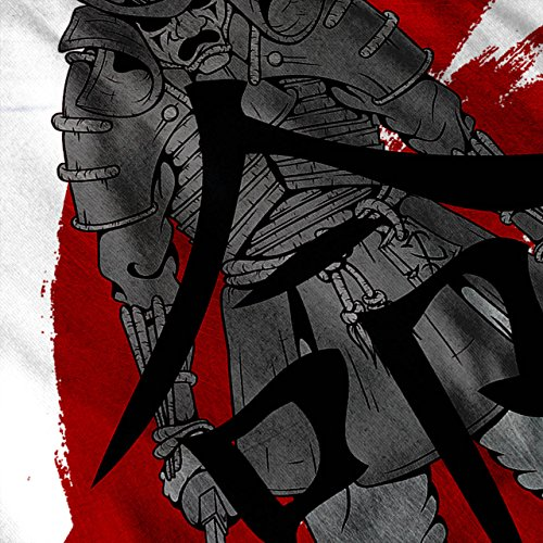 japanisch Samurai Fantasie Samurai Schwert Damen S-2XL Muskelshirt | Wellcoda Weiß