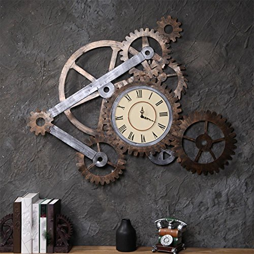 continental-reloj-de-pared-antiguo-engranajes-de-viento-industrial