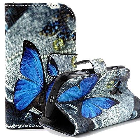 ARTLU® Wallet Flip Case Cover Housse Portefeuille Etui Pour Coque Samsung Galaxy Grand Neo (GT-i9060, GT-i9060DS, GT-i9060L) , Stylus et Film protecteur inclus A23