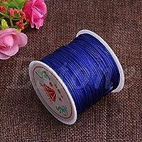 Gjyia 0.8mm Nylon Cord Thread Chino Nudo Macrame Rattail Pulsera con cordón Trenzado 45M Royal Blue