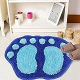 Cuteco, weich, saugfähig–Teppich für Badezimmer/Dusche, Teppich, Rutschfest blau