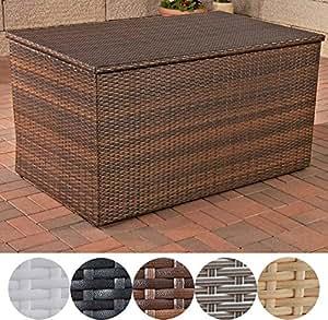 clp polyrattan aufbewahrungsbox i gartentruhe f r kissen und auflagen i in verschiedenen farben. Black Bedroom Furniture Sets. Home Design Ideas