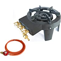 Cast Iron Burner Triple Ring Gas Stove 9.8 KW with Gas Hose and Propane Regulator