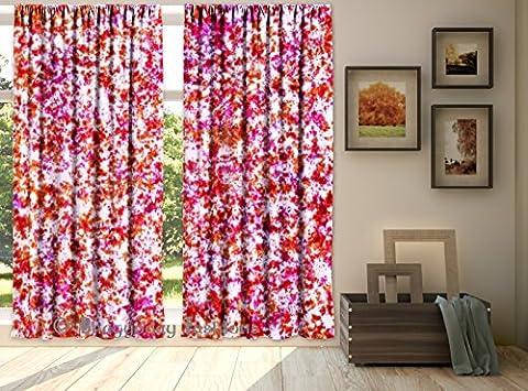 indischen Tab Top Shibori Vorhänge, Tapisserie Wellen Deko Tür Fenster