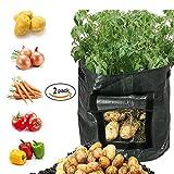 Designerbox Garten, Kartoffel wachsen Taschen, Garten Gemüse Pflanzgefäß Taschen mit Klappe und Griffe - Best Reviews Guide