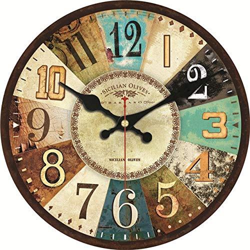 Tipo: reloj de pared. Peso: 550 g. Estilo: Europa. Tipo de diseño: digital. Diámetro: 40 cm. Tipo de pantalla: aguja. Forma: redonda. Largo: 400 mm. Número de modelo: 12821/12822/12823/12824/12825/12826/12828. Diseño: abstracto. Colocación aplicable:...
