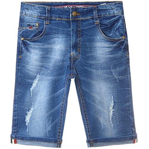 Jungen Destroyed Capri Jeans Shorts Kinder Strech Kurze Hose 22172, Größe:104