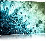 Glasperlen weißes Gras Abstrakt Format: 60x40 cm auf Leinwand, XXL riesige Bilder fertig gerahmt mit Keilrahmen, Kunstdruck auf Wandbild mit Rahmen, günstiger als Gemälde oder Ölbild, kein Poster oder Plakat