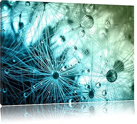 Glasperlen weißes Gras Abstrakt Format: 120x80 cm auf Leinwand, XXL riesige Bilder fertig gerahmt mit Keilrahmen, Kunstdruck auf Wandbild mit Rahmen, günstiger als Gemälde oder Ölbild, kein Poster oder Plakat