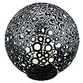EGLO Aussen-Stehleuchte Modell FERROTERRA, Stahl verzinkt, schwarz, silber-patina/Glas geätzt, lackiert, HV 1xE27 maximal 100W, exklusiv Leuchtmittel, Zuleitung 4 m, Schutzgrad IP54, H=450 mm, D=452 mm, Sockel D=195 mm 89565 E von EGLO bei Lampenhans.de