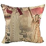 Luxbon USA Statue Of Liberty Kissenbezug Kissen Fall Sofa Taille Throw Cover Pillowcase Huelle Couch Stuhl Auto Haus Deko 45 x 45 cm