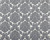 Barock Tapete EDEM 9014-30 Vliestapete geprägt mit Ornamenten glänzend weiß silber grau 10,65 m2