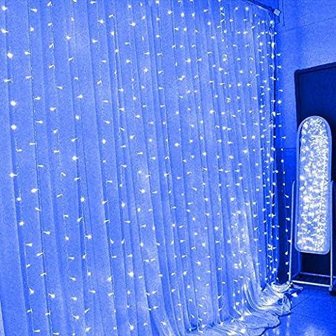 Eplze LED Rideau de Lumière 6m x 3m 600 LEDs Lumière LED Fée 8 Modes Commandables Résistant à l'eau Lumière Cordes pour Party de Noël Mariage Fête Décoration de Fenêtre
