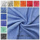 Tissu éponge - vendu au demi-mètre, hauteur fixe 150 cm. 1 qté = 50 cm ; 2 qté = 100 cm Idéal pour la fabrication de serviettes, bavoirs, accessoires de bricolage