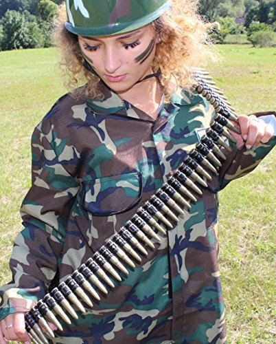 Patronengurt, Patronengürtel, Munitionsgürtel, ca. 150 cm (Militär Kostüm Zubehör)