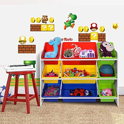 Songmics scaffale porta giocattoli per bambini for Ikea scatole plastica
