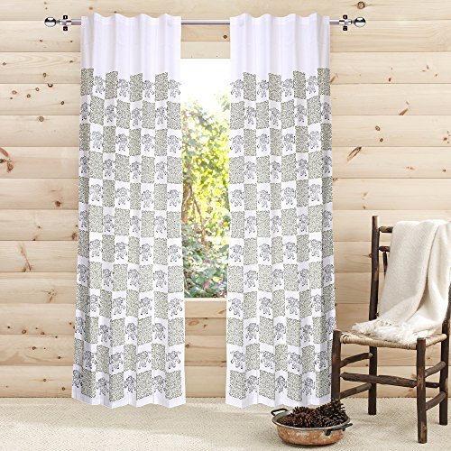 check MRP of block printed curtains LINENWALAS