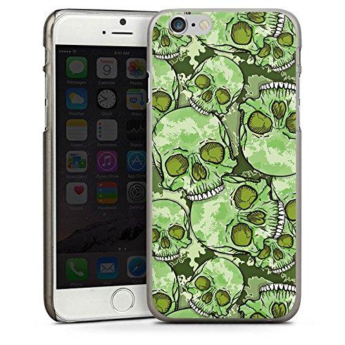 Apple iPhone 4 Housse Étui Silicone Coque Protection Tête de mort Motif Motif CasDur anthracite clair