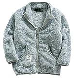 ZETA DIKES - Sweat-Shirt Polaire Souple à Poche Pull Couleur Uni Enfant Garçon...