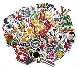 Stickerbomb Mega Mix aus 100 Retro- und Sponsoren- Sticker/Aufkleber