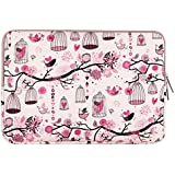 Mosiso Laptop Sleeve, Homage to Freedom Water-Resistant Soft Neoprene Case Bag Cover for 12.9 iPad Pro / 13-13.3 Inch Laptops / Notebook Computer / Macbook Pro / Retina / Macbook Air / Ultrabook, Pink