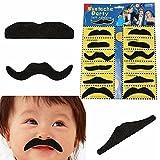 Stickon Moustache, Black/Fake Moustache Set, Assorted (12 Pieces)