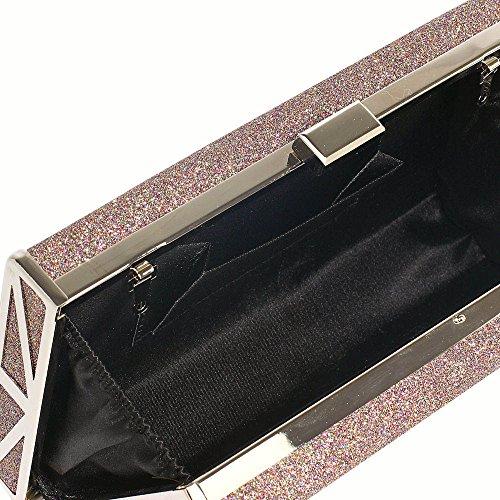 Damen Kupplung Funkeln Kupplung Tasche Abend Kupplung Taschen Zum Frau Hochzeit Tasche Mit Kette Und Oben Schnappen Schließung A - Multi